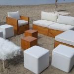 loation mobilier bois réception