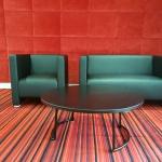 location canapé et fauteuil noir
